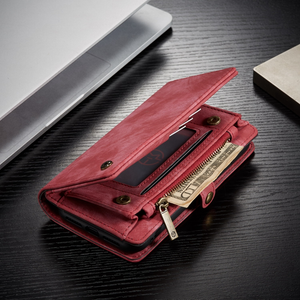 Suede Effect PU Leather iPhone Wallet Cover - Available in Multiple Colours