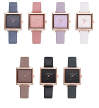 Load image into Gallery viewer, Square Dial PU Leather Strap Quartz Watch - Available in Multiple Colours