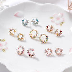 Selection of Circle Stud Earrings