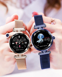 Stainless Steel Mesh Strap Smart Watch - Available in Multiple Colours