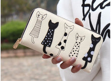 Load image into Gallery viewer, Cat Embroidery PU Leather Purse