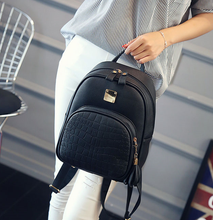 Load image into Gallery viewer, PU Leather Backpack with Front Pocket