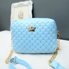 Load image into Gallery viewer, Mini Crown Patch PU Leather Cross-Body Bag