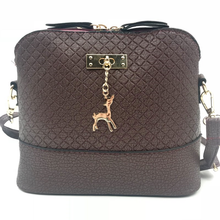 Load image into Gallery viewer, PU Leather Deer Pendant Cross-Body Bag - Available in Multiple Colours