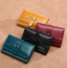 Load image into Gallery viewer, Mini Hasp Closure Split Leather Purse