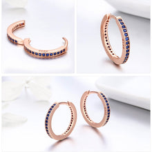 Load image into Gallery viewer, 925 Sterling Silver Hooped Earrings - Available in Multiple Colours