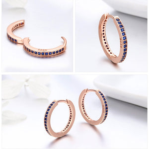 925 Sterling Silver Hooped Earrings - Available in Multiple Colours