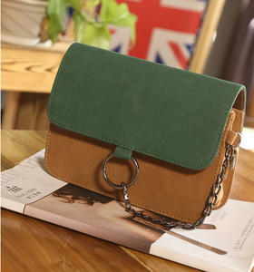 Suede Effect PU Leather Cross-Body Bag