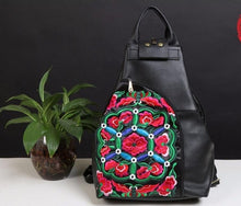 Load image into Gallery viewer, Vintage Embroidered Genuine Leather Backpack - Available in Multiple Styles