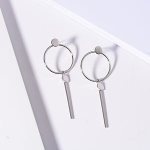 Stud Earrings with Hoop - Available in Multiple Colours