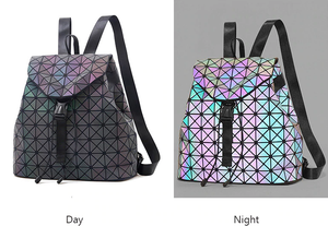 Luminous Geometric PU Leather Backpack - Available in Multiple Colours