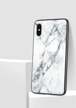 Load image into Gallery viewer, Marble Patterned Tempered Glass iPhone Cover - Available in Multiple Colours