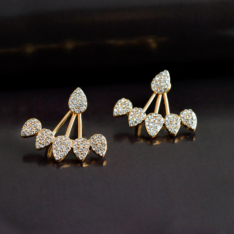 Crystal Stud Earrings - Available in Multiple Colours
