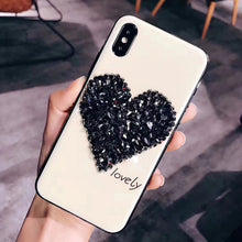 Load image into Gallery viewer, Glittered Heart Print iPhone Cover - Available in Multiple Colours