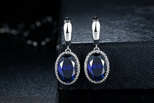 Load image into Gallery viewer, Silver Earrings with Drop Shaped Stone - Available in Multiple Colours