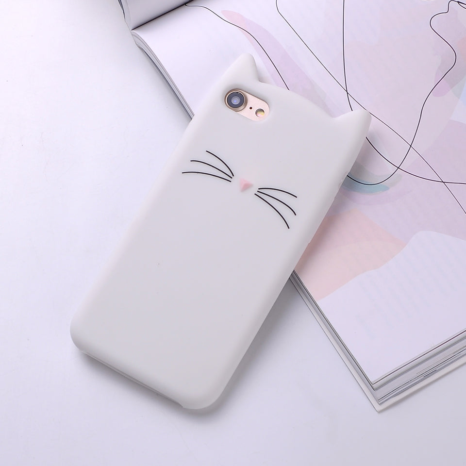 Cat Eared Silicone iPhone Cover - Available in Multiple Colours