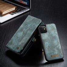 Load image into Gallery viewer, Suede Effect PU Leather iPhone Wallet Cover - Available in Multiple Colours