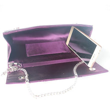 Load image into Gallery viewer, Purple Shiny Fabric Clutch