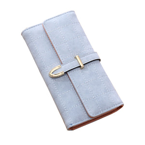 Checked Suede Effect PU Leather Purse - Available in Multiple Colours
