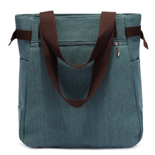 Load image into Gallery viewer, Blue Canvas Travel Shoulder Bag