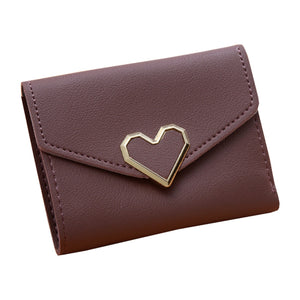 Mini Heart Shaped Hasp PU Leather Purse
