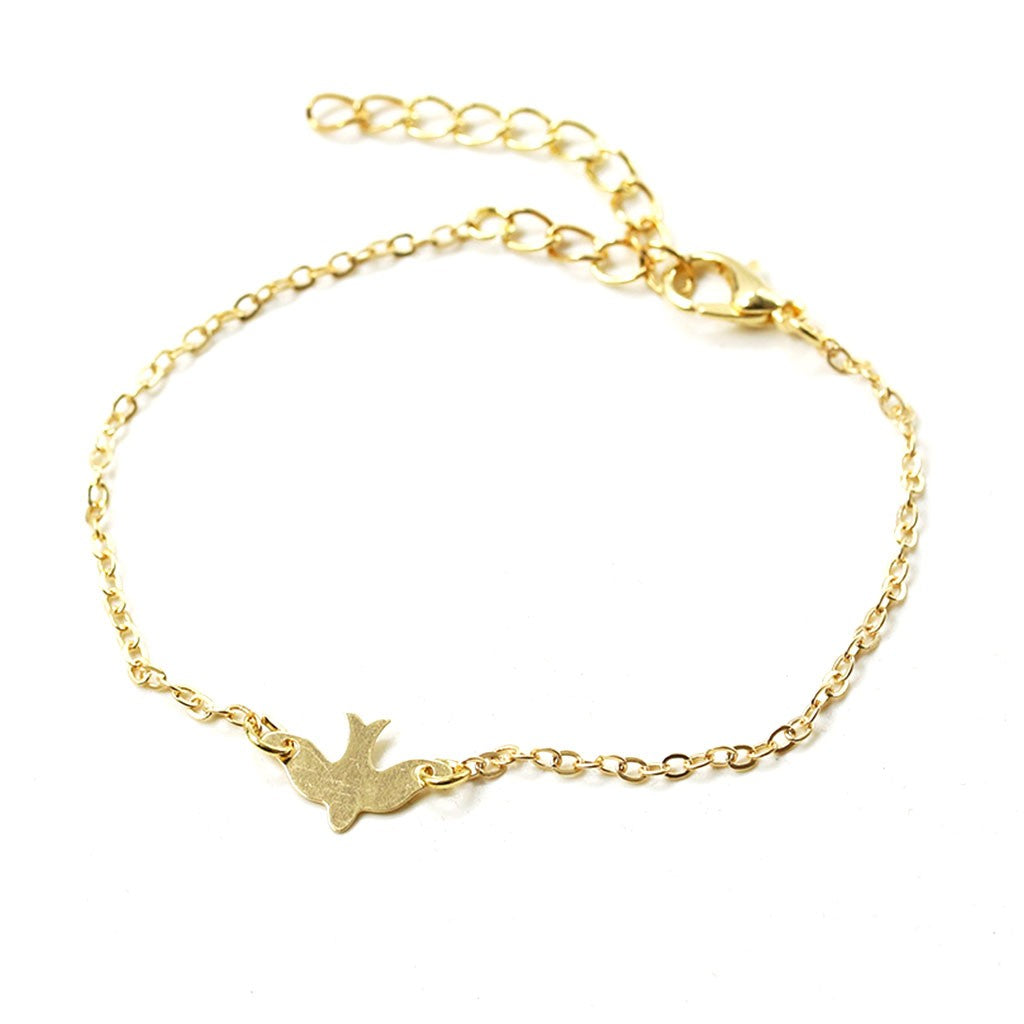 Bird Shaped Charm Bracelet - Available in Multiple Colours
