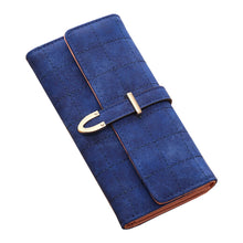 Load image into Gallery viewer, Checked Suede Effect PU Leather Purse - Available in Multiple Colours