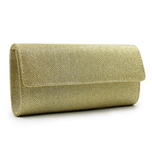 Load image into Gallery viewer, Stylish Gold Solid Satin Clutch