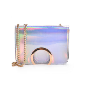 Laser Chain Cross-Body Bag