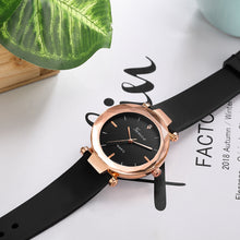 Load image into Gallery viewer, Gold Bezel Stainless Steel Silicone Strap Quartz Watch - Available in Multiple Colours