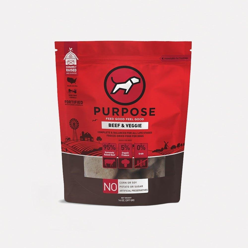Beef & Veggie Freeze-Dried Raw Dog Food - PURPOSE PET FOOD