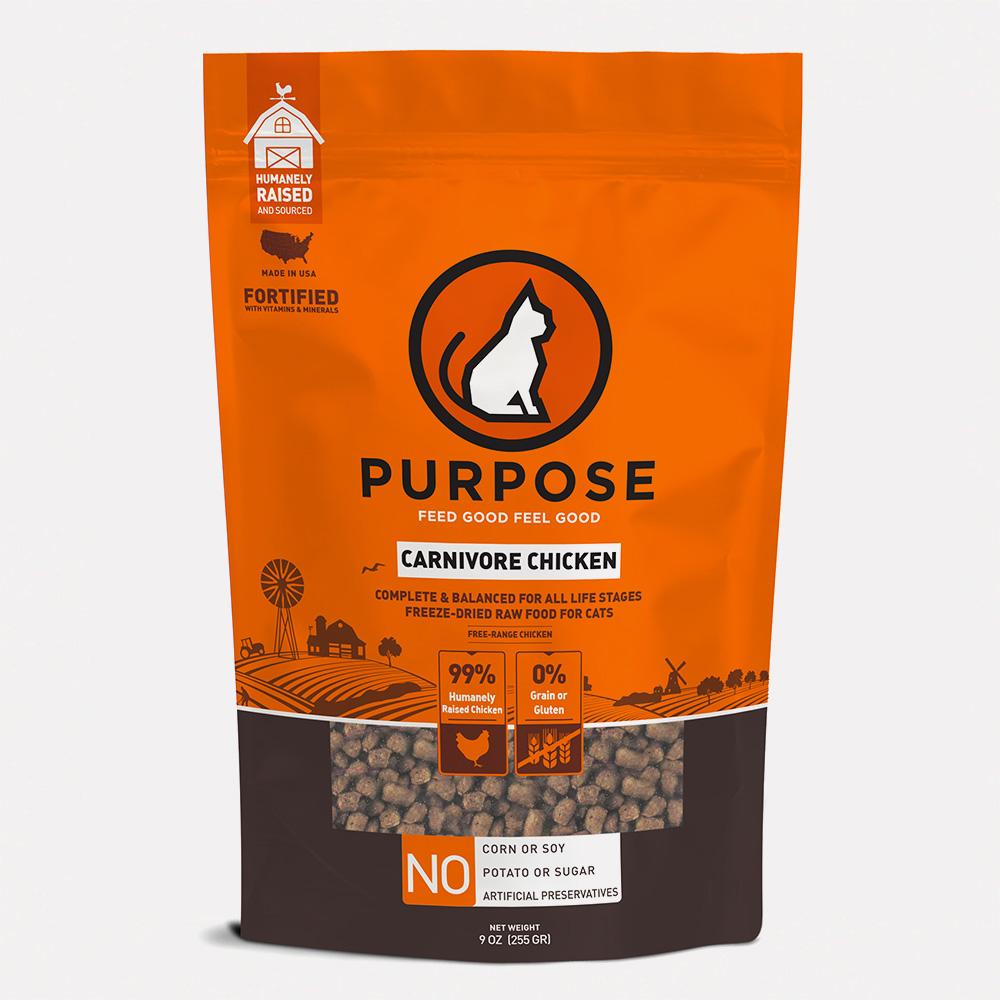 Carnivore Chicken Freeze-Dried Raw Cat Food - PURPOSE PET FOOD