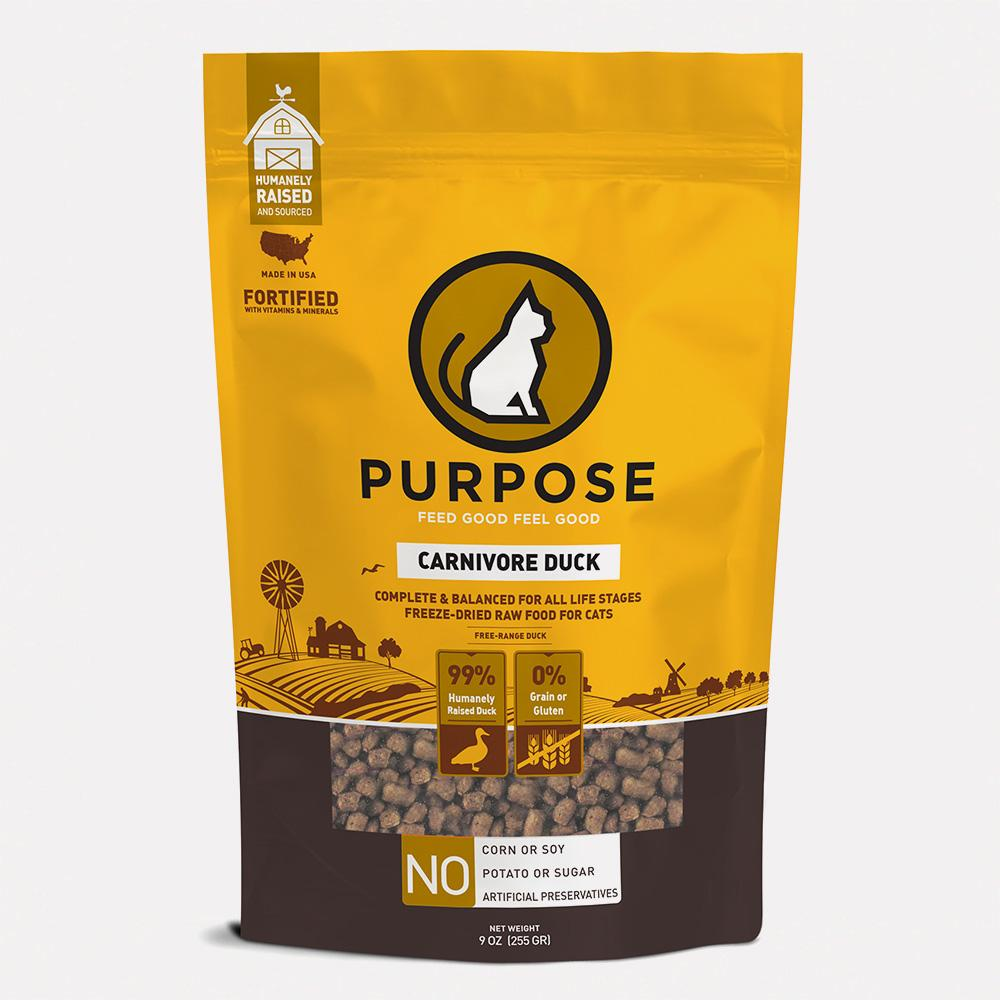 Carnivore Duck Freeze-Dried Raw Cat Food - PURPOSE PET FOOD
