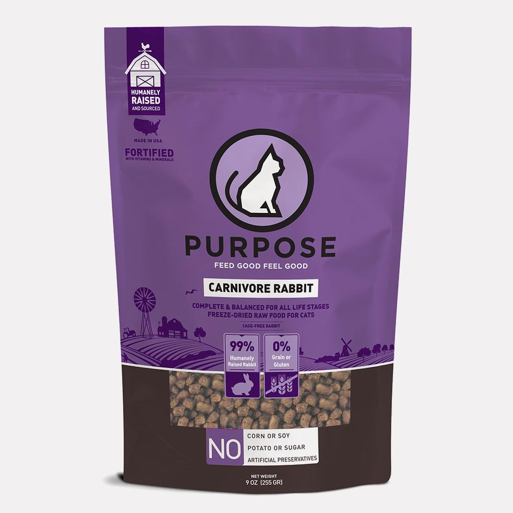 Carnivore Rabbit Freeze-Dried Raw Cat Food - PURPOSE PET FOOD
