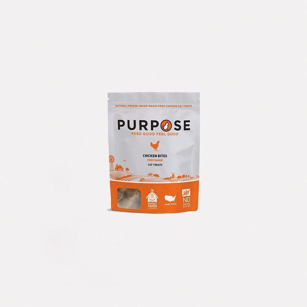 Chicken Bites Freeze-Dried Raw Cat Treats - PURPOSE PET FOOD
