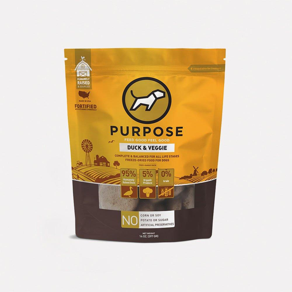 Duck & Veggie Freeze-Dried Raw Dog Food - PURPOSE PET FOOD
