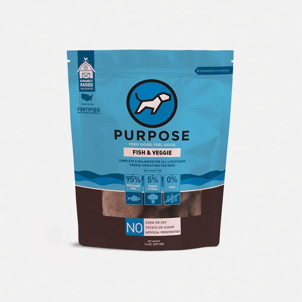Fish & Veggie Freeze-Dried Raw Dog Food - PURPOSE PET FOOD