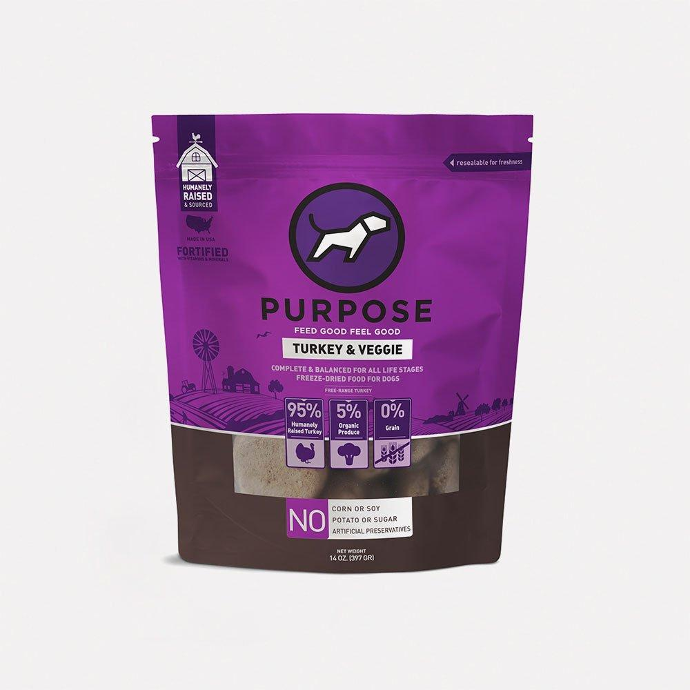 Turkey & Veggie Freeze-Dried Raw Dog Food - PURPOSE PET FOOD