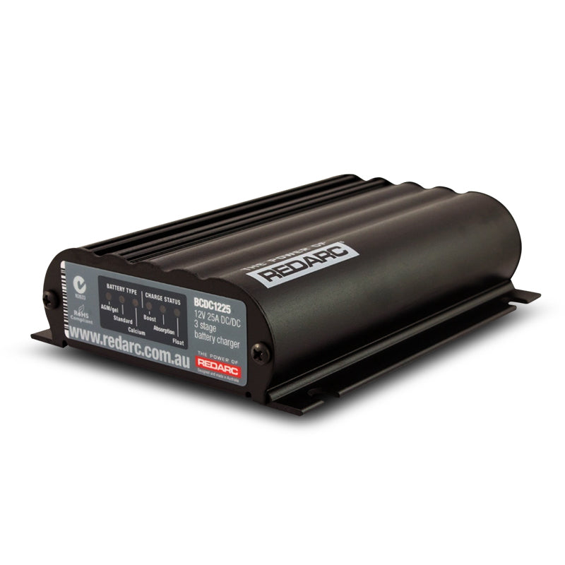 REDARC DUAL INPUT 25A IN-VEHICLE DC BATTERY CHARGER