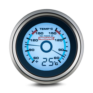 REDARC DUAL TEMPERATURE 52MM GAUGE WITH OPTIONAL TEMPERATURE DISPLAY
