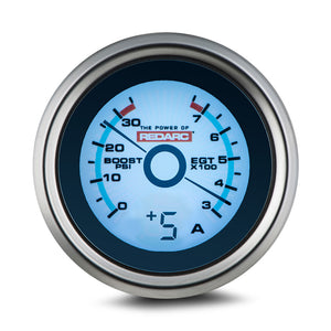 REDARC EGT & BOOST PRESSURE 52MM GAUGE WITH OPTIONAL CURRENT DISPLAY