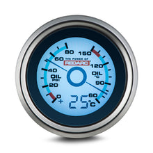 Load image into Gallery viewer, REDARC OIL PRESSURE & OIL TEMPERATURE 52MM GAUGE WITH OPTIONAL TEMPERATURE DISPLAY