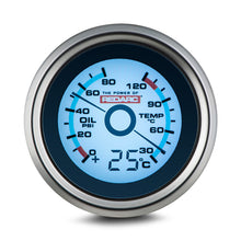 Load image into Gallery viewer, REDARC OIL PRESSURE & WATER TEMPERATURE 52MM GAUGE WITH OPTIONAL TEMPERATURE DISPLAY