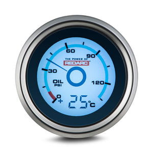 REDARC SINGLE OIL PRESSURE 52MM GAUGE WITH OPTIONAL TEMPERATURE DISPLAY
