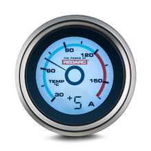 Load image into Gallery viewer, REDARC SINGLE TEMPERATURE 52MM GAUGE WITH OPTIONAL CURRENT DISPLAY