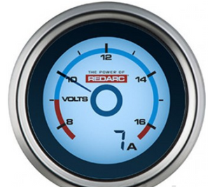 REDARC SINGLE VOLTAGE 52MM GAUGE WITH OPTIONAL CURRENT DISPLAY