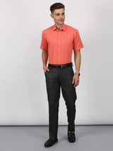 Coral Plain Short Sleeve Formal Shirt