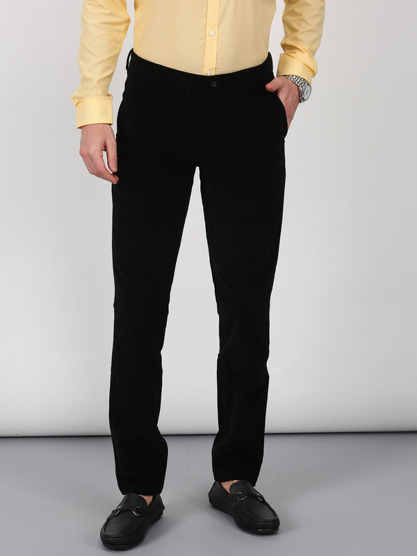 Black Plain Slim Fit Trouser