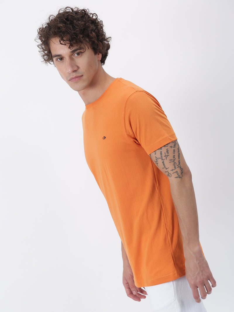 Saffron Plain Short Sleeve Casual T-Shirt