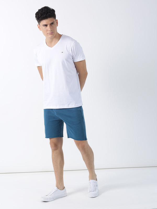 White Plain Short Sleeve Casual T-Shirt